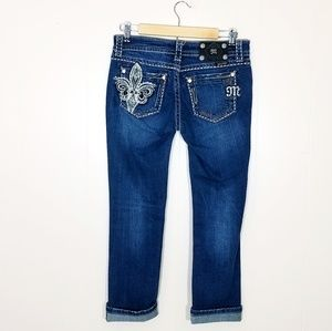 Miss Me Embellished Easy Capri Jeans